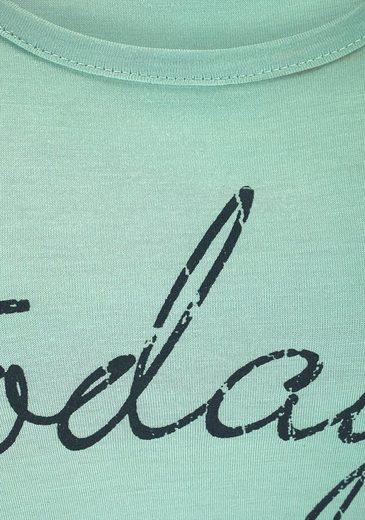 Mit Großem Weitem Bigshirt Schriftzug Schnitt Mint Buffalo In jRL354A