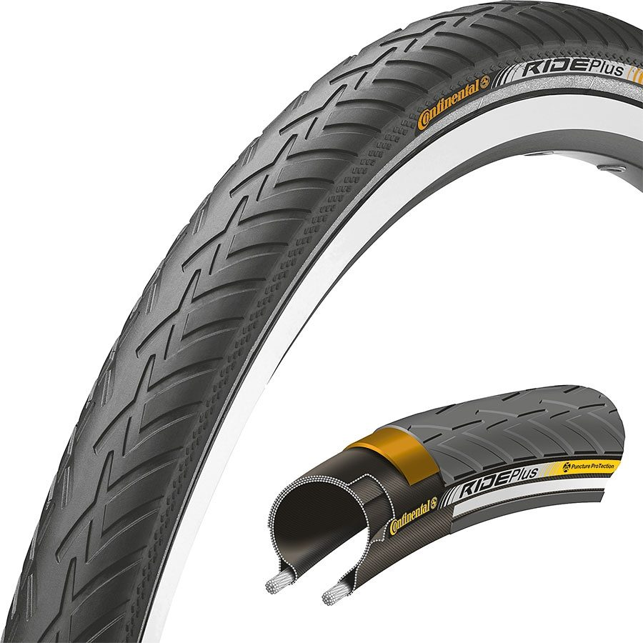 Continental Fahrradreifen »Ride Plus 26 x 1.75 Zoll Draht Reflex«