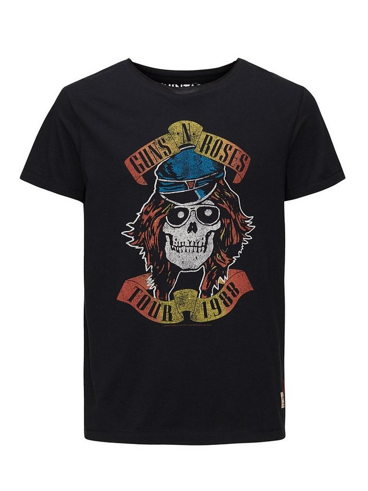 Jack & Jones Guns N' Roses-bedrucktes T-Shirt in Caviar