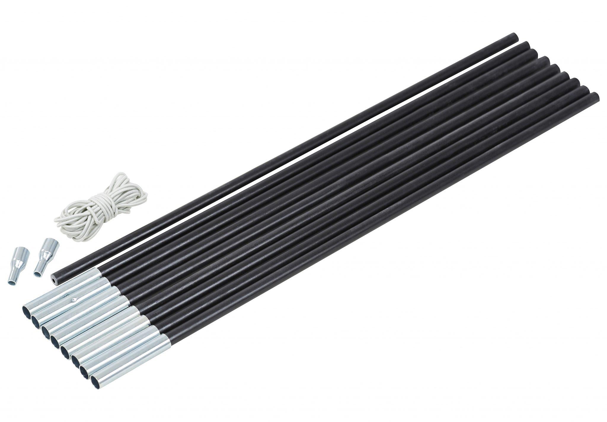 CAMPZ Zeltzubehör »Glasfaser Gestänge-Set 11mm/4,55m«