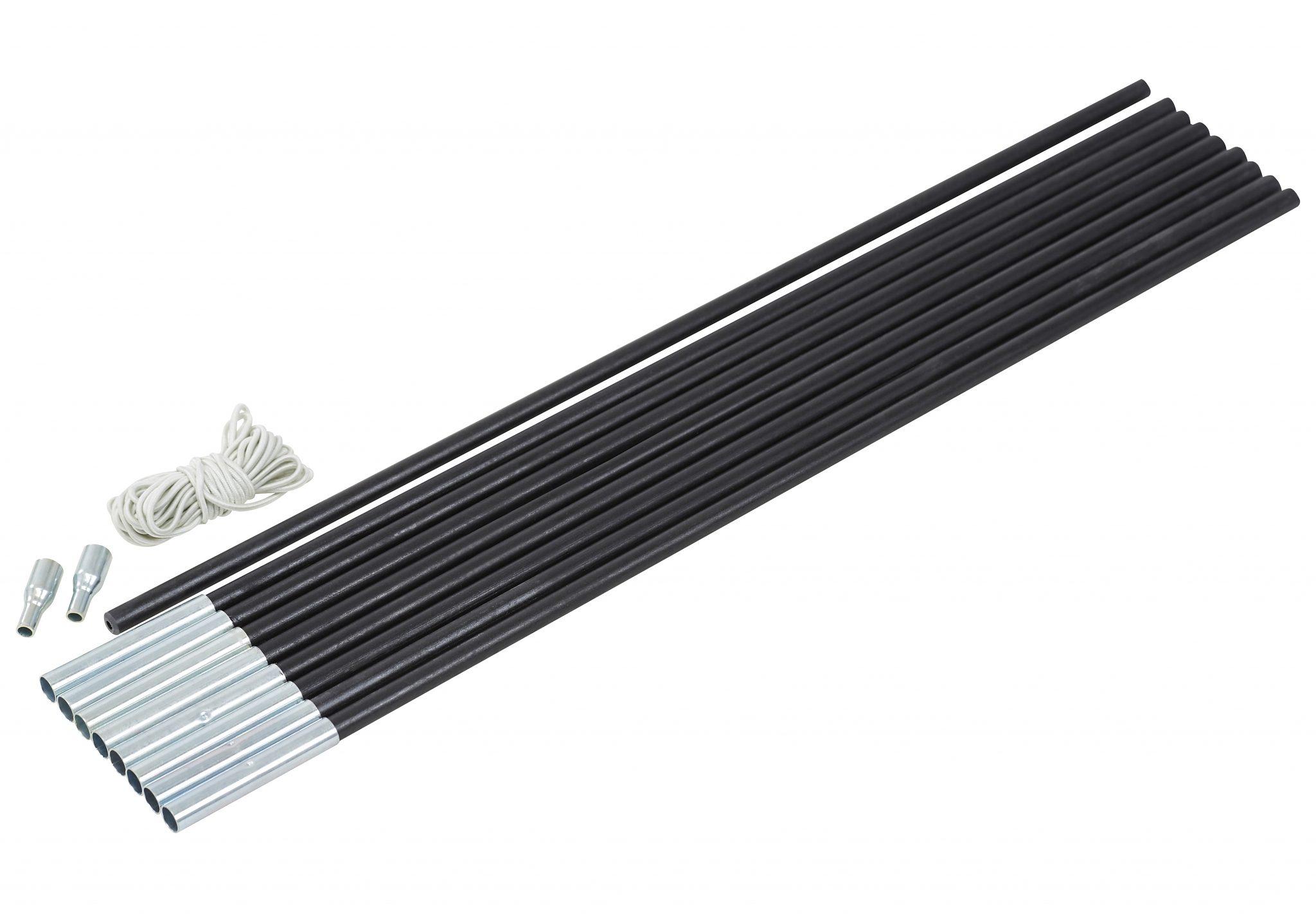 CAMPZ Zeltzubehör »Glasfaser Gestänge-Set 9mm/4,55m«