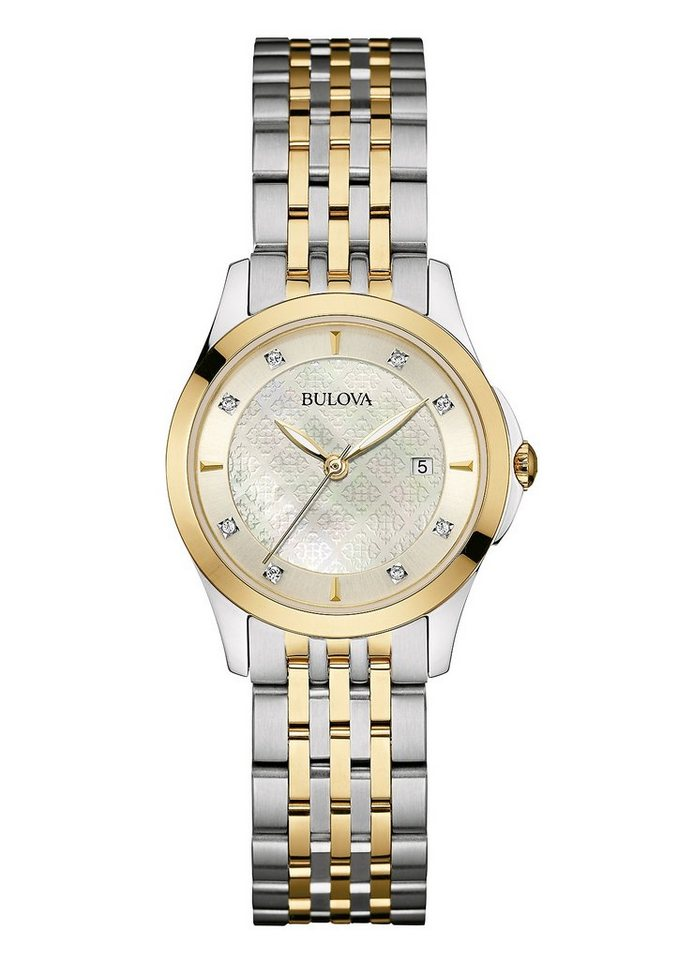 Bulova Quarzuhr »Diamonds, 98S148« in silberfarben-goldfarben