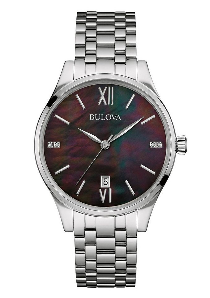 Bulova Quarzuhr »Diamonds, 96S162« in silberfarben
