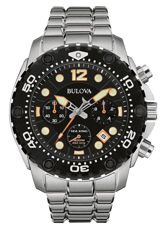 Bulova Chronograph »Sea King, 98B244« in silberfarben