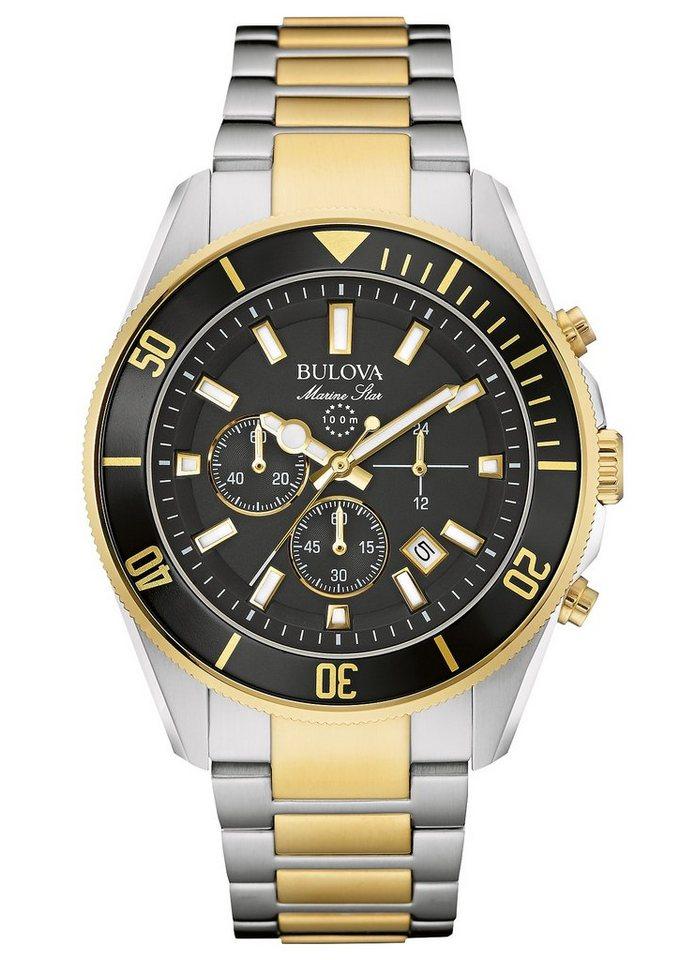 Bulova Chronograph »Marine Star, 98B249« in silberfarben-goldfarben