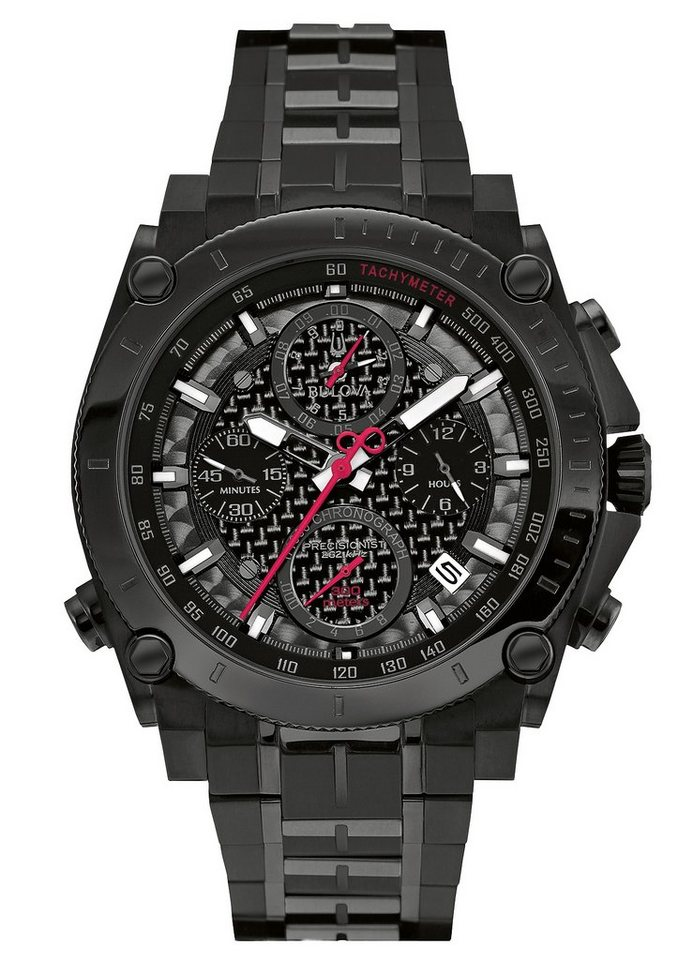Bulova Chronograph, »Precisionist, 98G257« in schwarz