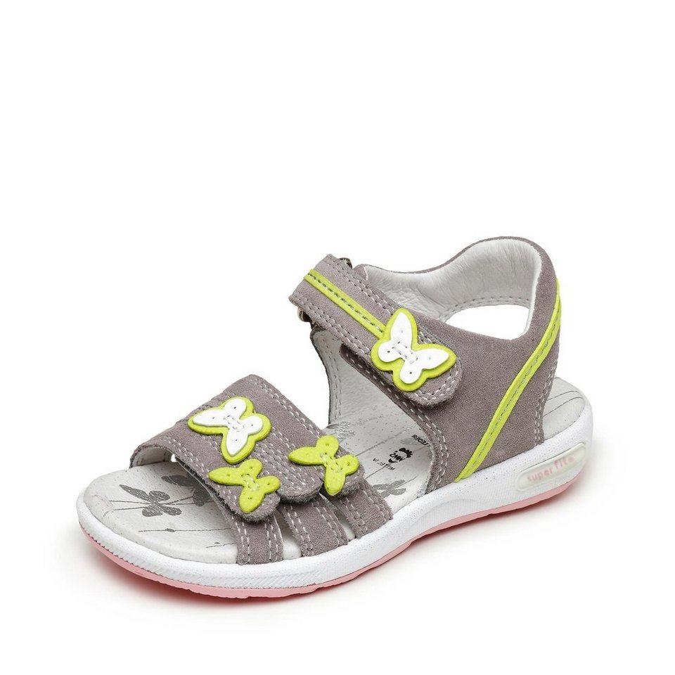 Superfit Sandale in hellgrau/apfelgrün