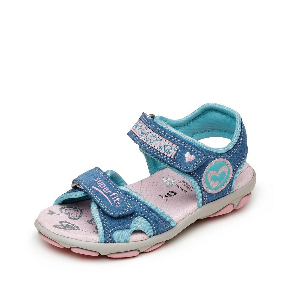 Superfit Sandale in blau/rosa