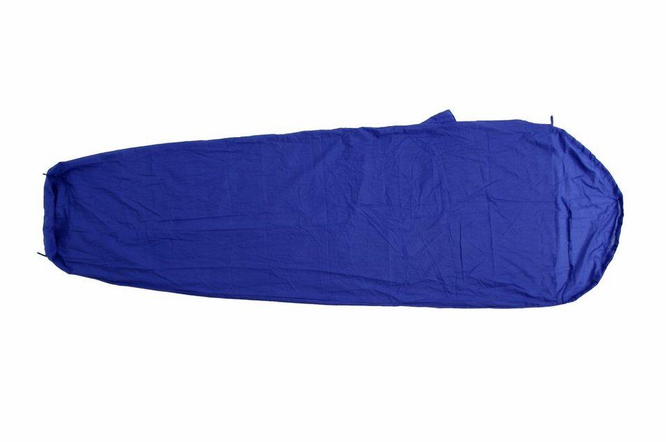 Basic Nature Schlafsack »Mischgewebe Inlett Mumienform« in blau