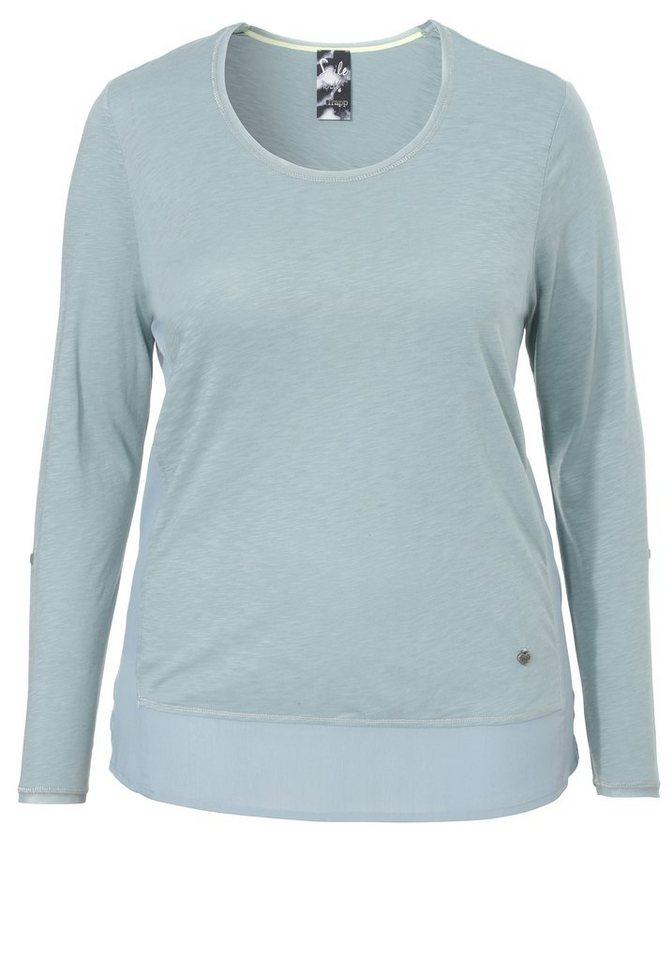FRAPP Kombi-Shirt »mit Blusensaum« in OCEAN