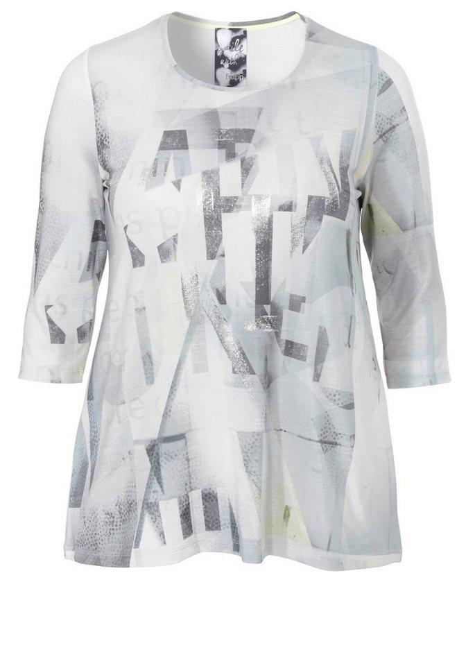 FRAPP Jersey-Shirt »mit feinem Glanz« in PEBBLE