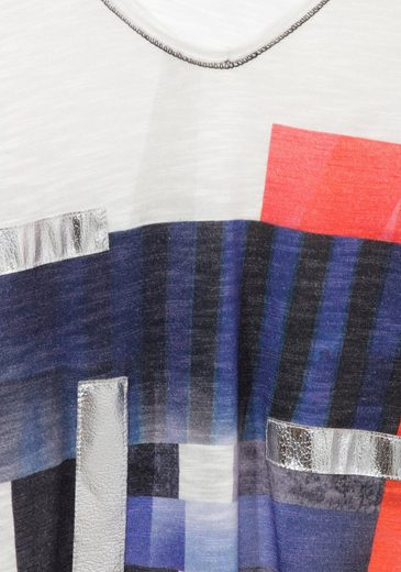 "FRAPP 3/4-Arm Jersey-Shirt ""Navy Mix"" Navy Mix"
