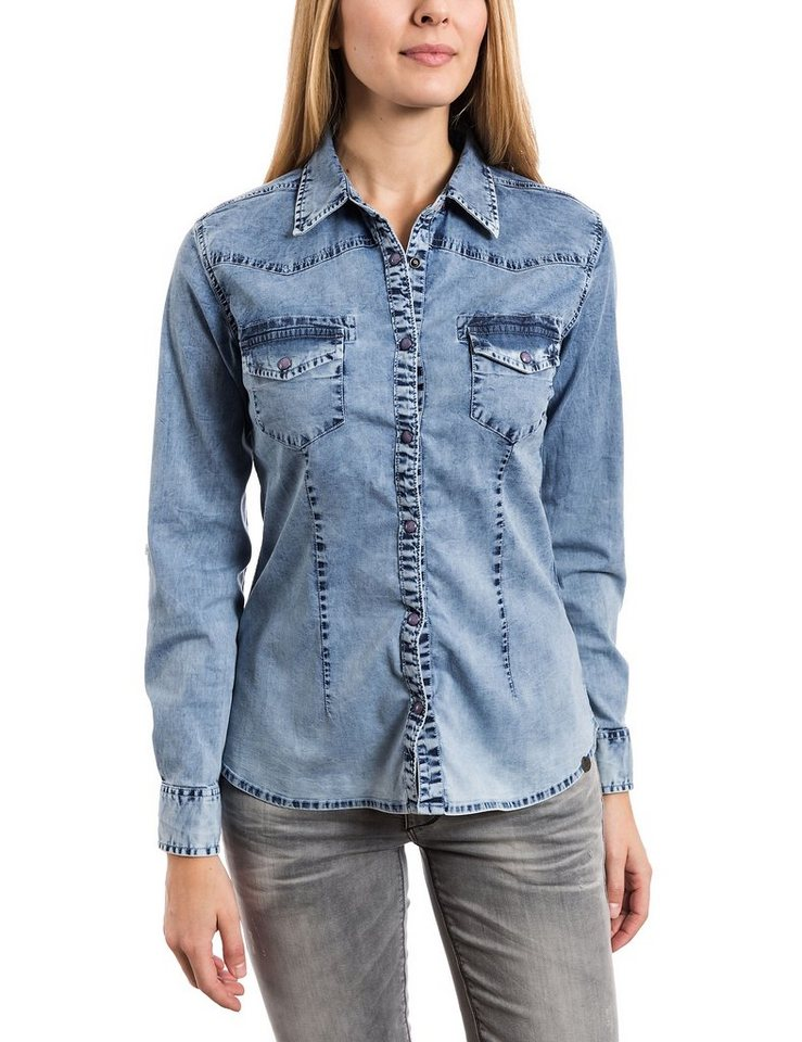 TIMEZONE Blusen »Denim blouse« in easy beach wash