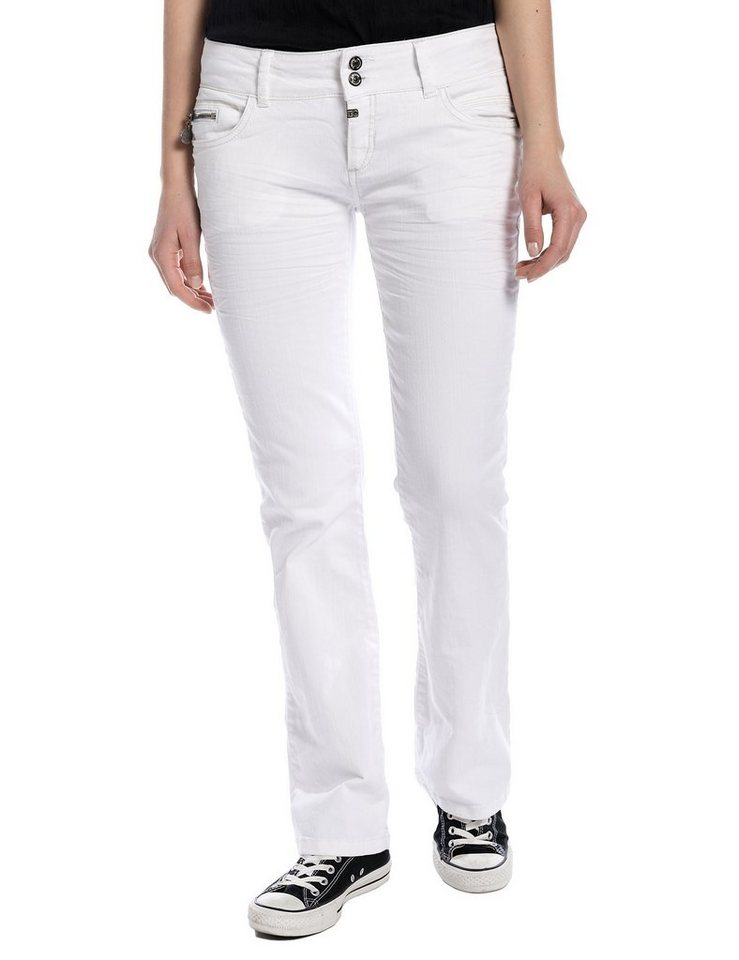 TIMEZONE Hosen lang »GretaTZ 5-pocket pants« in pure white