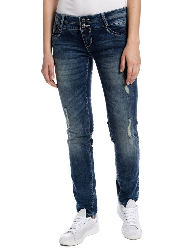 "TIMEZONE Jeans »EnyaTZ ""3944 destroyed loom wash""« in destroyed loom wash"