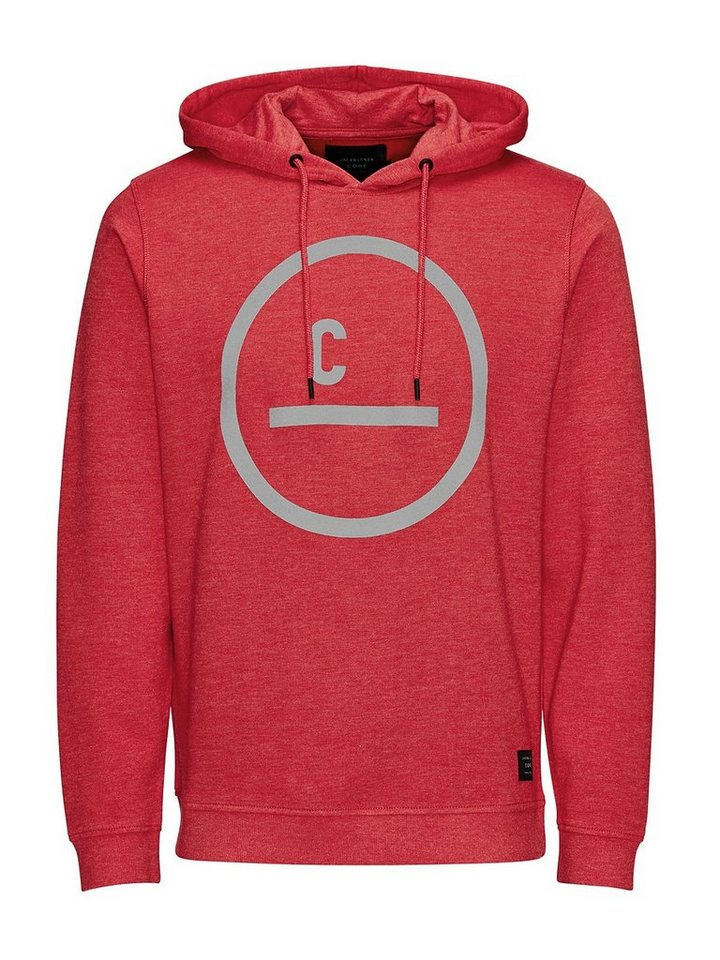 Jack & Jones Mit reflektierenden Details verzierter Hoodie in Chinese Red
