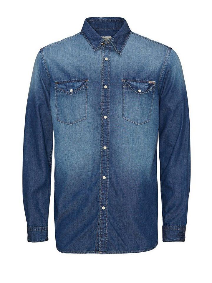 Jack & Jones Jeans- Hemd in Medium Blue Denim