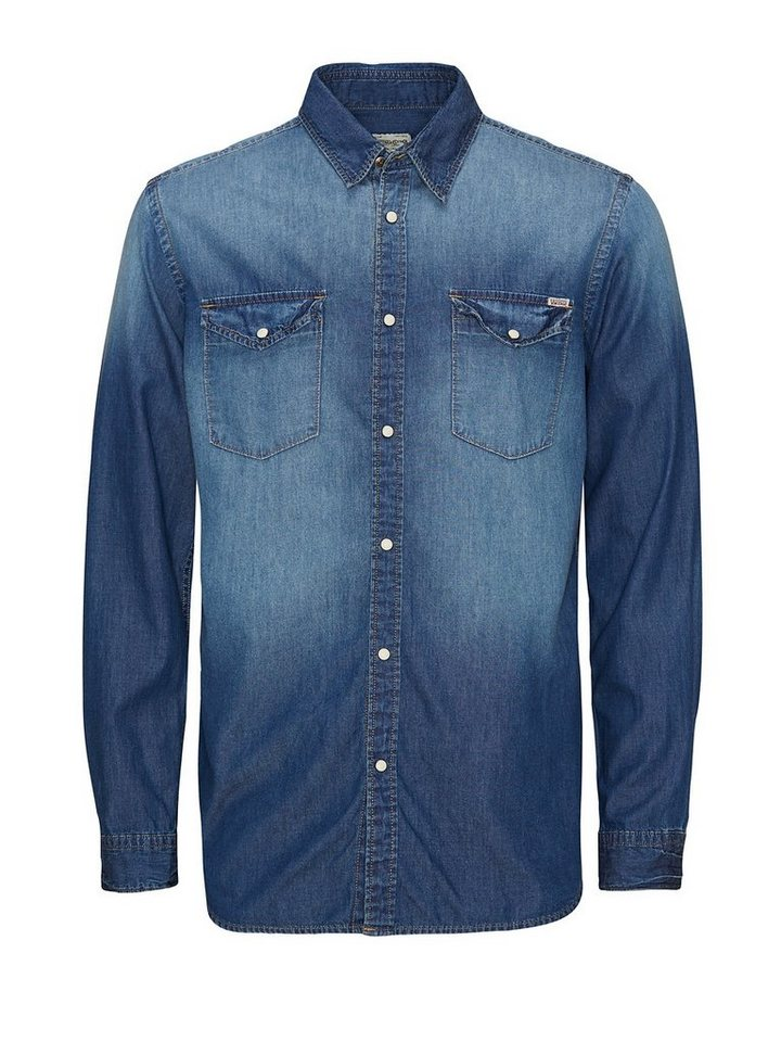 Jack & Jones Jeans- Jeanshemd in Medium Blue Denim