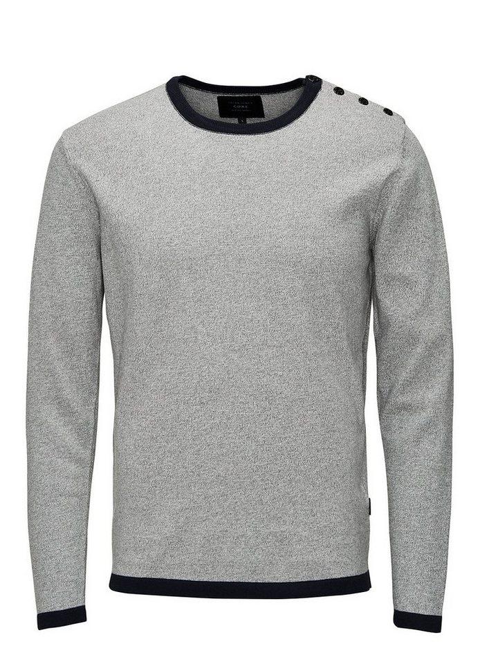 Jack & Jones Vielseitiger Pullover in Light Grey Melange