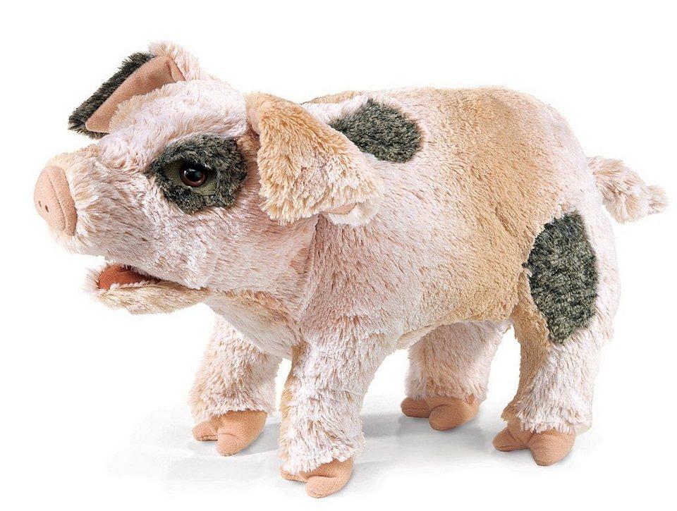FOLKMANIS® Handpuppe, »Grunzendes Schwein« in rosa