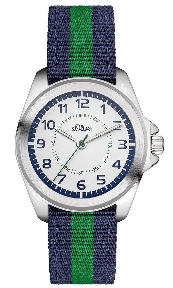 s.Oliver RED LABEL Quarzuhr »SO-3132-LQ« in blau-grün