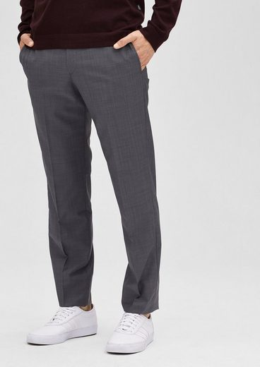 s.Oliver BLACK LABEL Slim: Hose aus Schurwoll-Mix