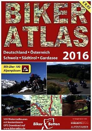 Broschiertes Buch »Biker Atlas 500 Motorradtouren aus D, A, CH, IT«