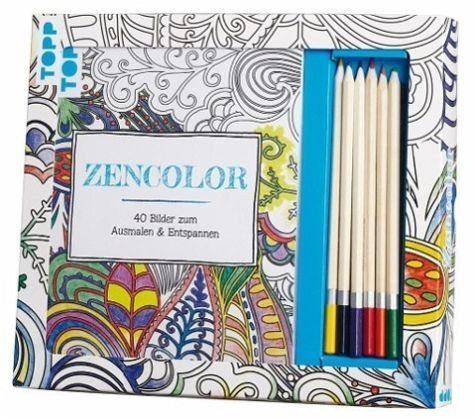 Broschiertes Buch »Kreativ-Set Zencolor (Ausmalen für Erwachsene)«