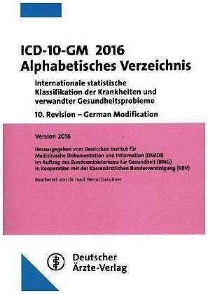 Broschiertes Buch »ICD-10-GM 2016 Alphabetisches Verzeichnis«