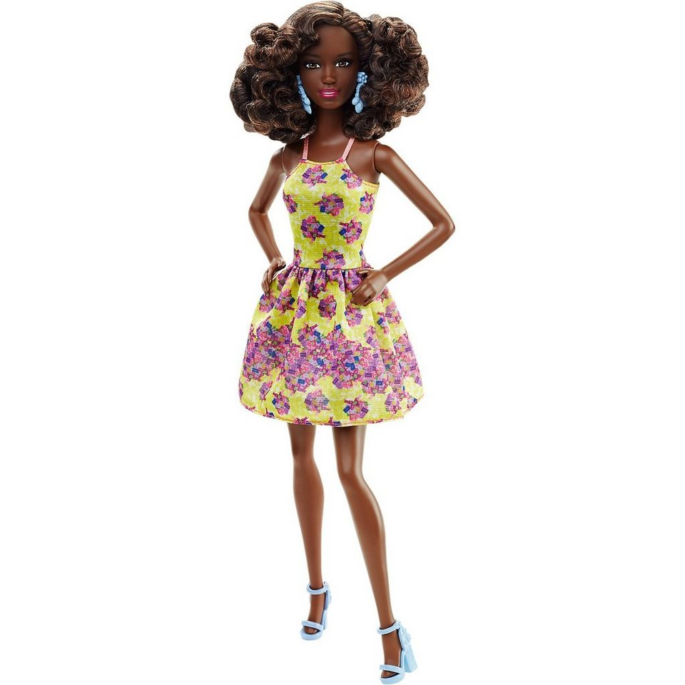 Mattel Fashionista im gelben Blumenkleid