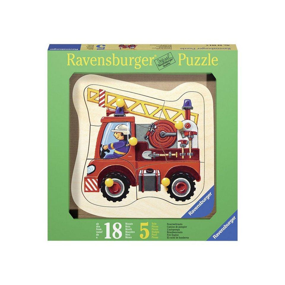 Ravensburger Holzpuzzle Feuerwehrauto 5 Teile