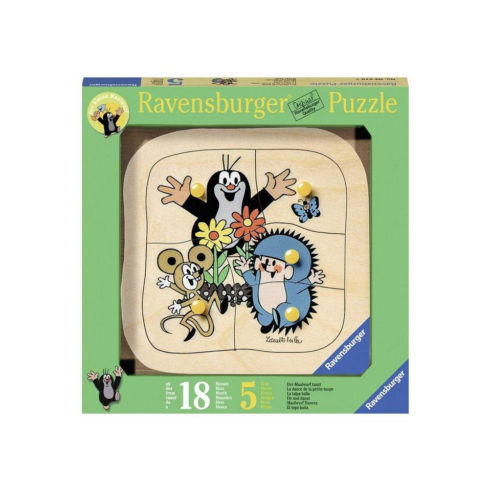 Ravensburger Holzpuzzle Maulwurf tanzt 5 Teile