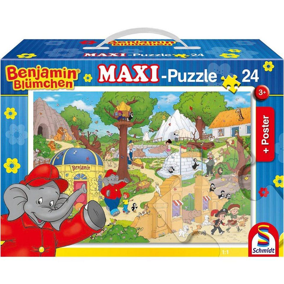 Schmidt Spiele Bodenpuzzle Benjamin Blümchen, Ein Zootag mit Törööö! (inkl.