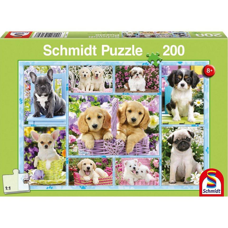 Schmidt Spiele Puzzle Welpen, 200 Teile