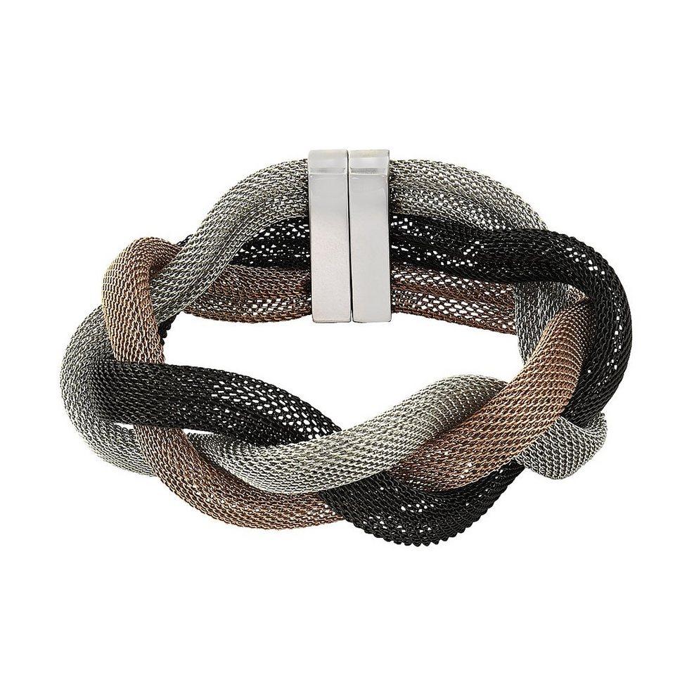 Zeeme Armband »Edelstahl dreifarbig 20cm lang« in mehrfarbig