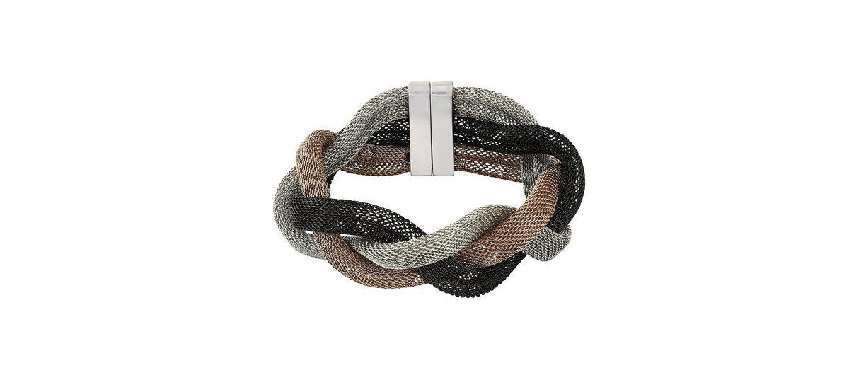 Zeeme Armband »Edelstahl dreifarbig 20cm lang«
