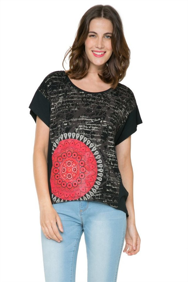 Desigual T-Shirt »TS LUCAS« in Schwarz