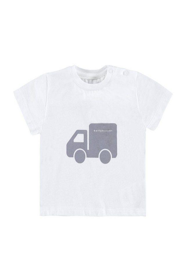 BELLYBUTTON Baby T-Shirt mit Truck Print in bright white