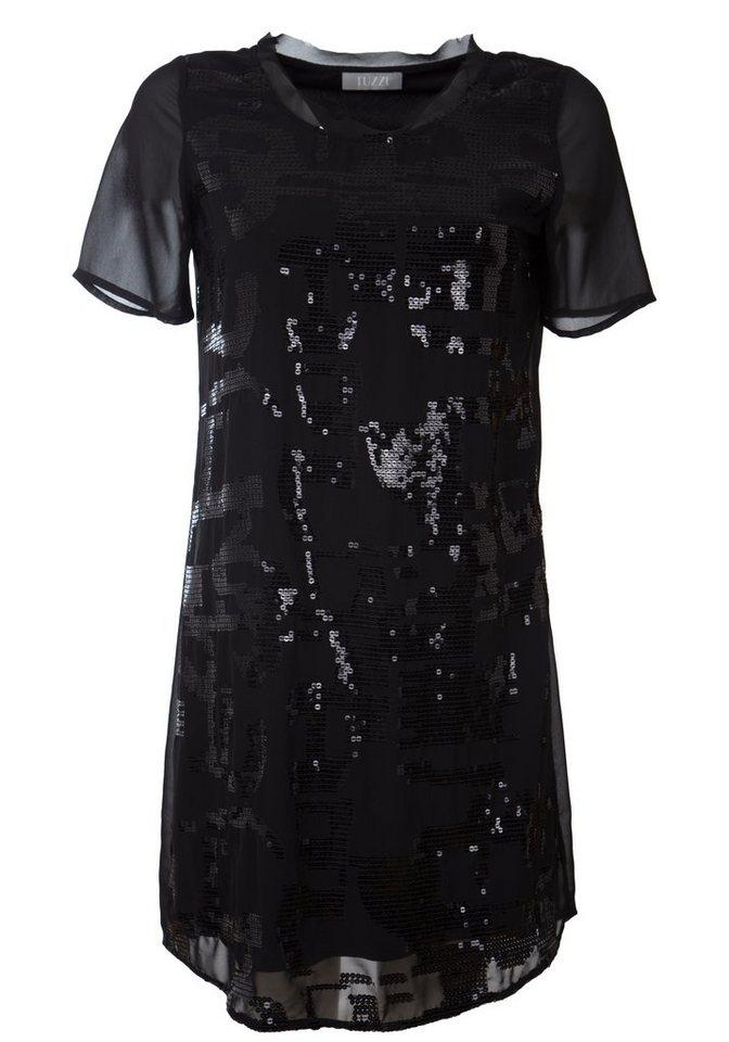 TUZZI Kleid mit Paillettenstick in black
