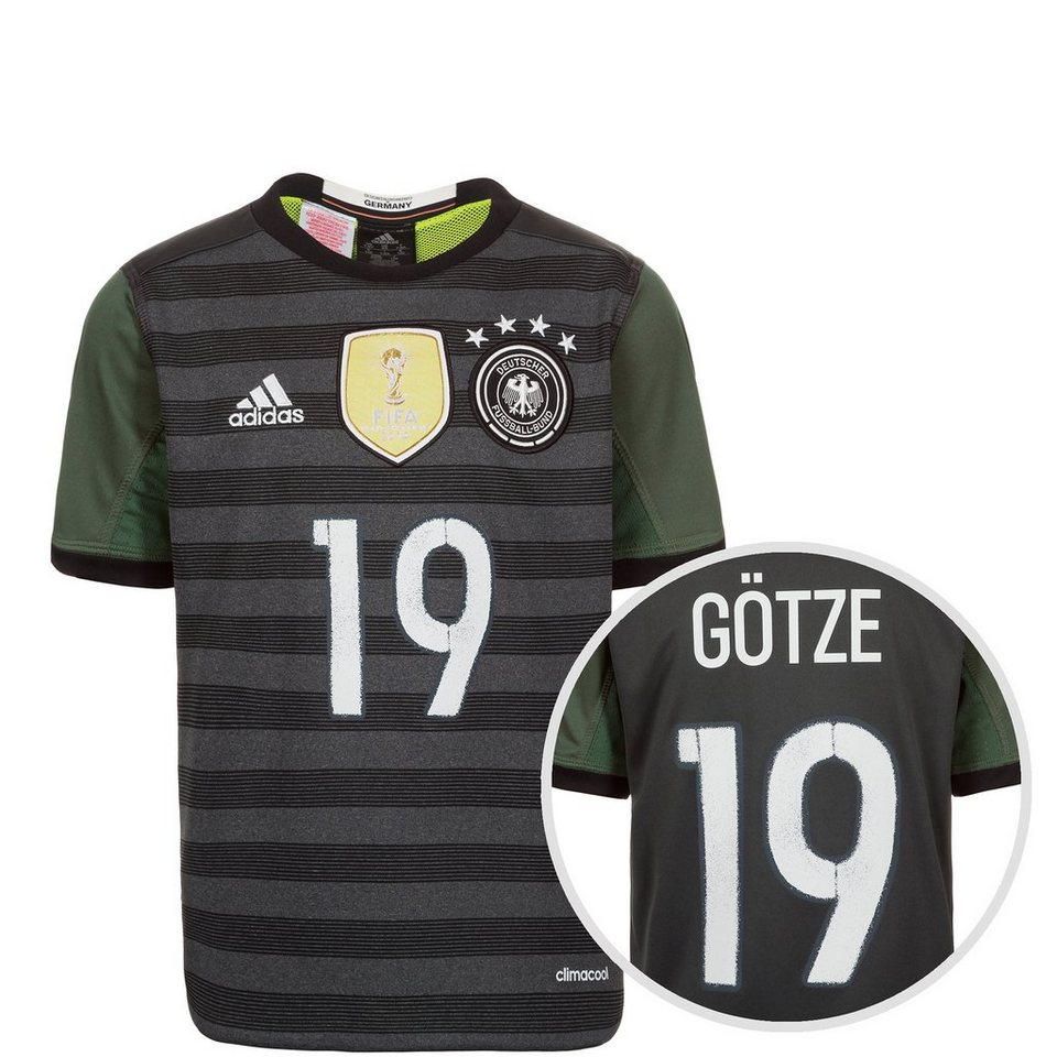 adidas Performance DFB Trikot Away Götze EM 2016 Kinder in grau / weiß / grün