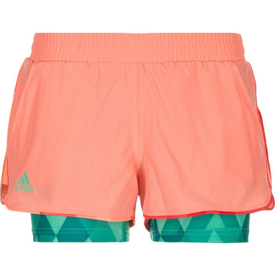 adidas Performance Club Team Tennisshort Damen in rosa / grün