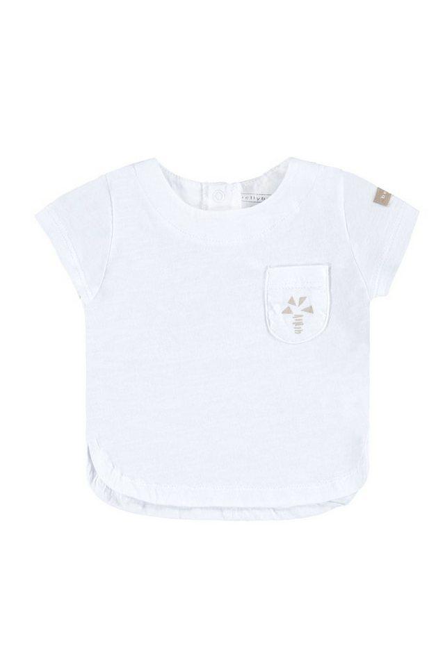 BELLYBUTTON Babyshirt mit Tasche, kleines Motiv in bright white