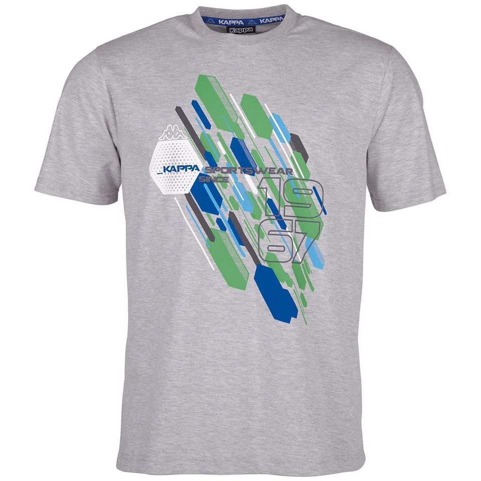 KAPPA T-Shirt »WEKO« in grey melange
