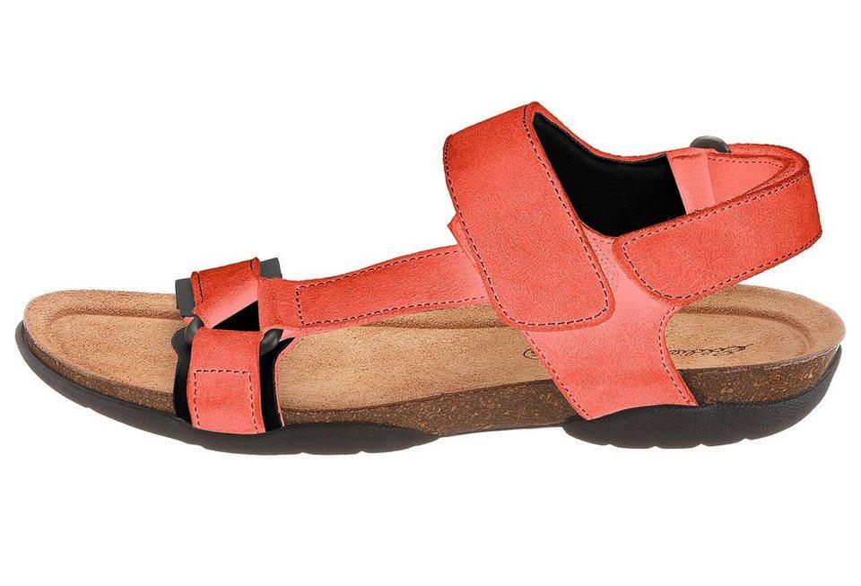 Eddie Bauer Velours-Trekking-Sandale in Orange