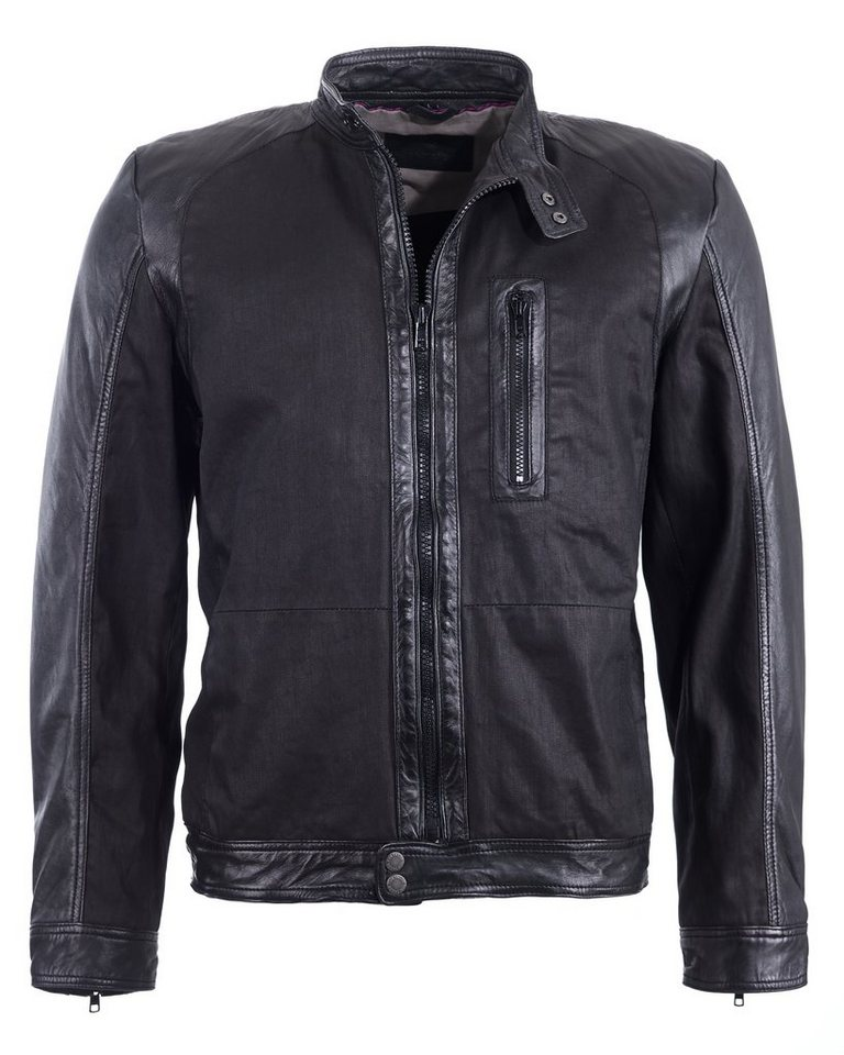 TOM TAILOR Lederjacke, Herren 6010043 in black