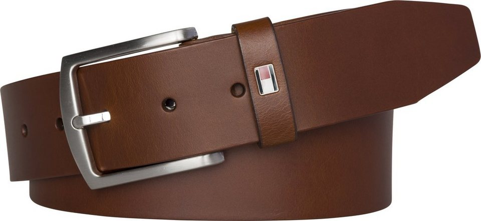 Tommy Hilfiger Gürtel »NEW DENTON BELT« in DARK TAN