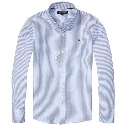 Tommy Hilfiger Hemden »PARK STRIPE SHIRT L/S.« in Shirt Blue