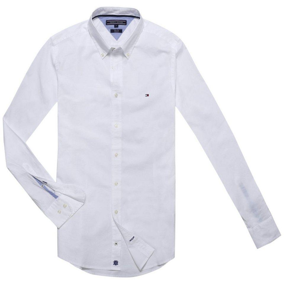 Tommy Hilfiger Hemden »STRETCH POPLIN SF2« in CLASSIC WHITE