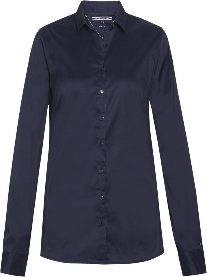 Tommy Hilfiger Blusen »AMY STR SHIRT LS W1« in NIGHT SKY