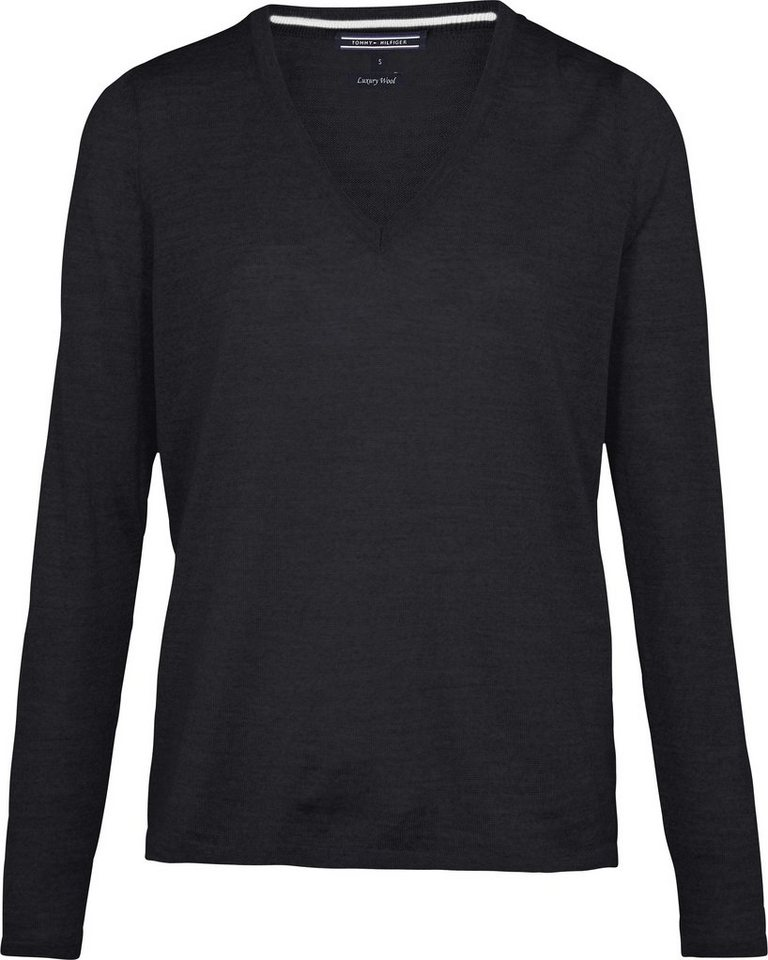 Tommy Hilfiger Pullover »NEW GUVERA V-NK SWTR« in MASTERS BLACK
